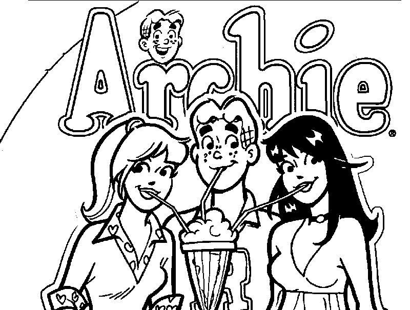 Archie Comics Girls Drink Coloring Page