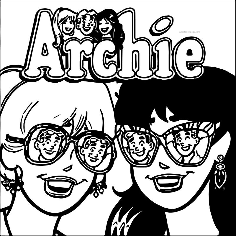 Archie Comics Girls Glasses See Coloring Page