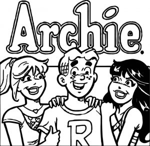 Archie comics together girls coloring page