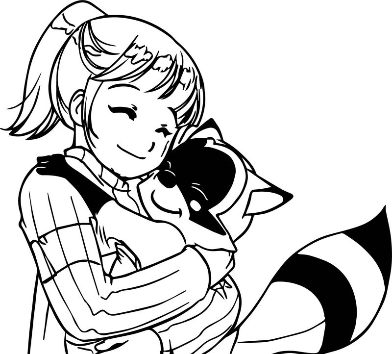 Archie Girl Friend The Redcat Snuggle Coloring Page