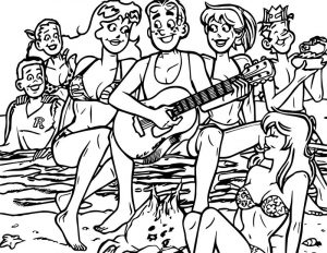 Archie summer daze coloring page