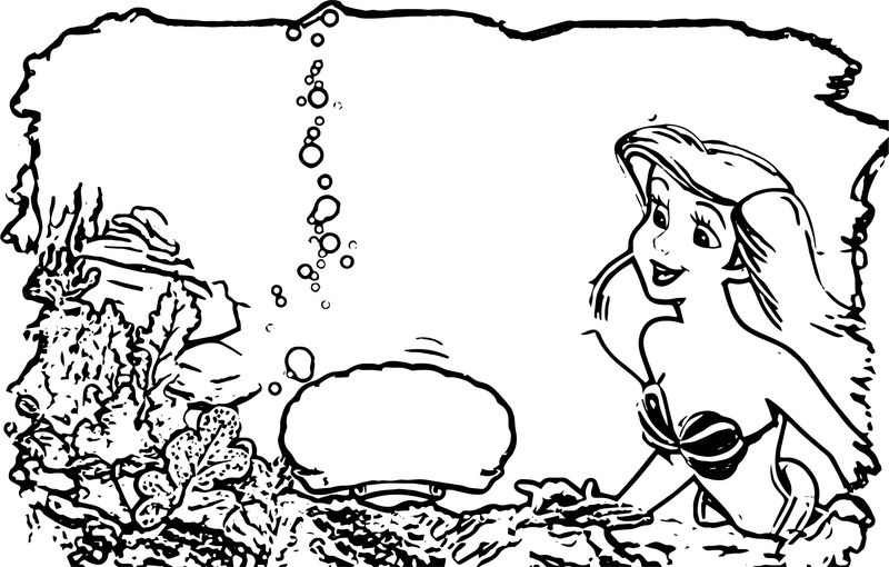 Are Ariel Mermaid Coloring Page