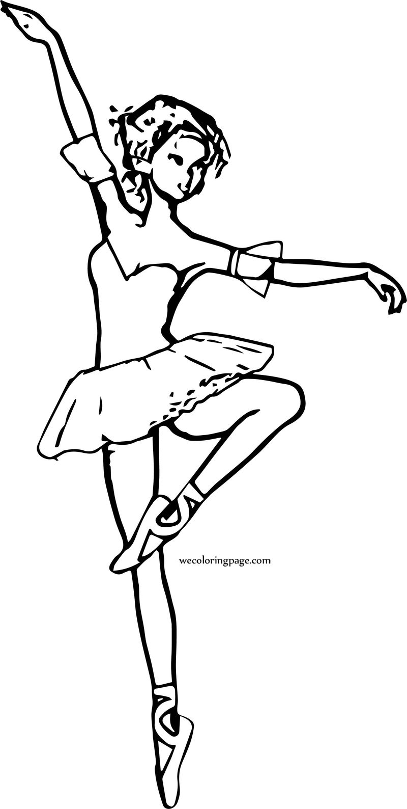Are Ballerina Girl Coloring Page