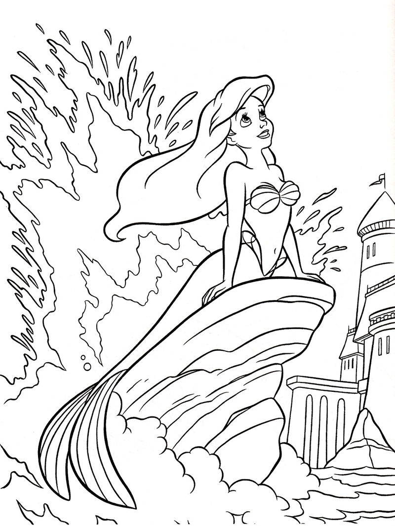 Ariel Disney Princess Coloring Pages