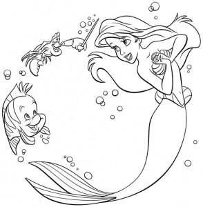 Ariel little mermaid coloring pages