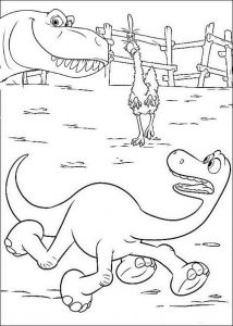 Arlo feeling scared the good dinosaur coloring page