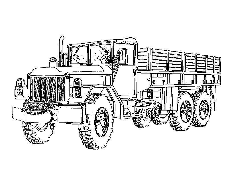 Army Truck Coloring Pages For Boys