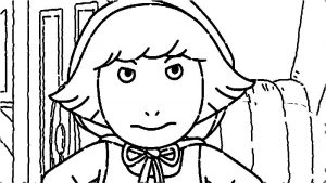 Arthur angry girl coloring page
