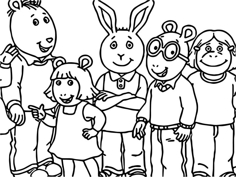 Arthur Family Friends Coloring Page
