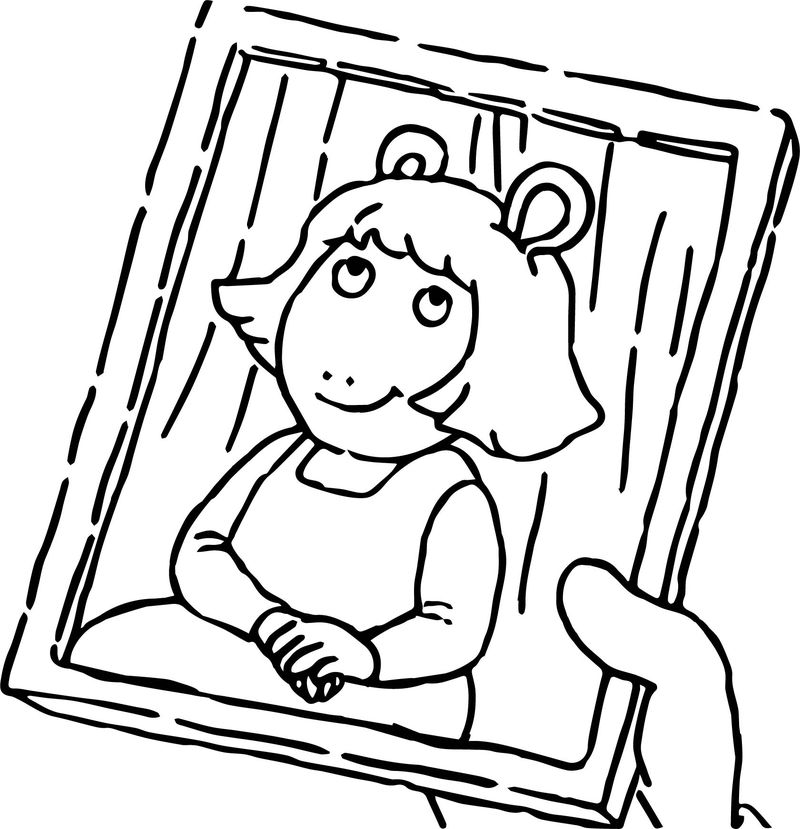 Arthur Girl Photo Coloring Page