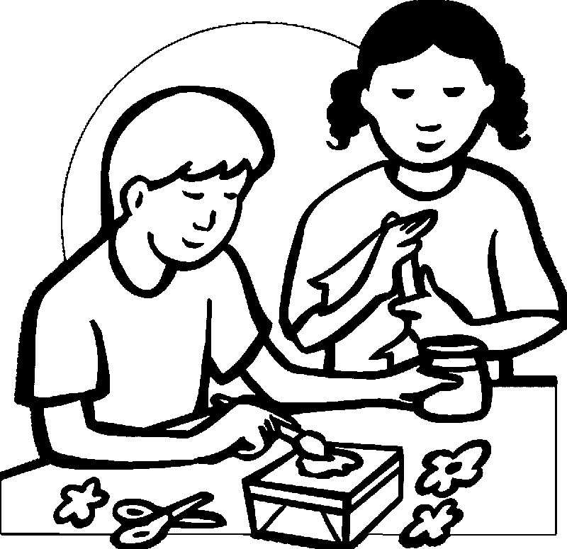 Arts And Crafts Activity Coloring Page