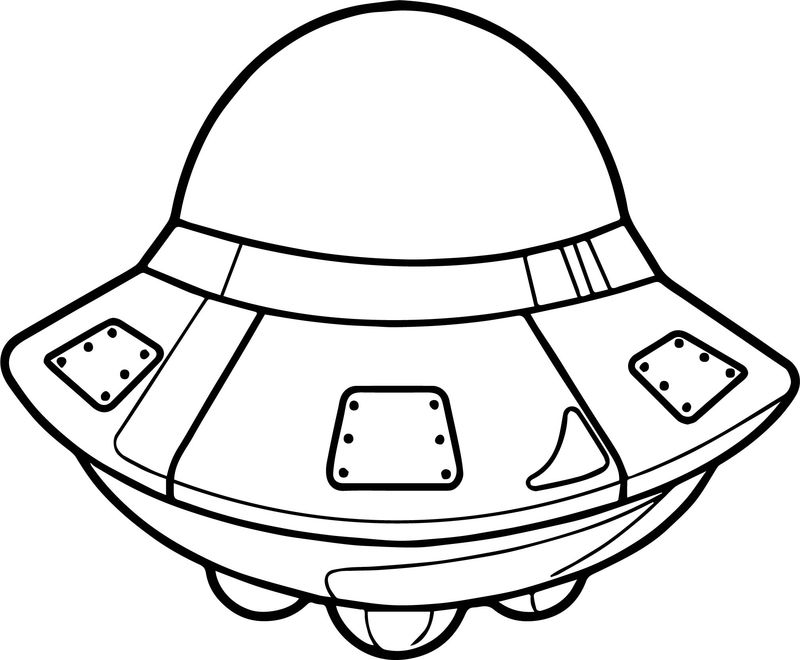 Astronaut Space Vehicle Coloring Page