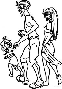 Atlantis the lost empire family coloring page