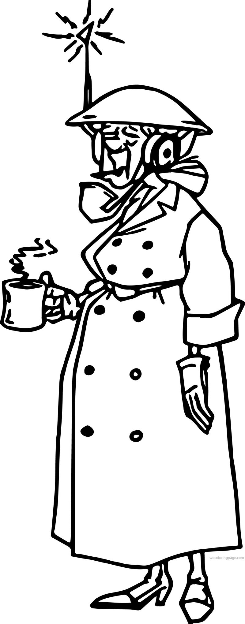 Atlantis The Lost Empire Packard Drinking Coffee Coloring Page