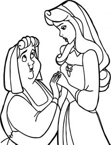 Aurora flora fauna and merryweather consolation coloring pages
