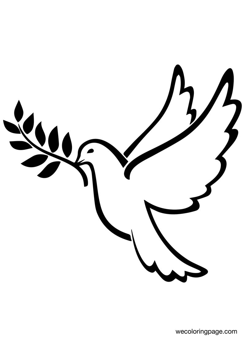 Avangarde Peace Bird Coloring Page