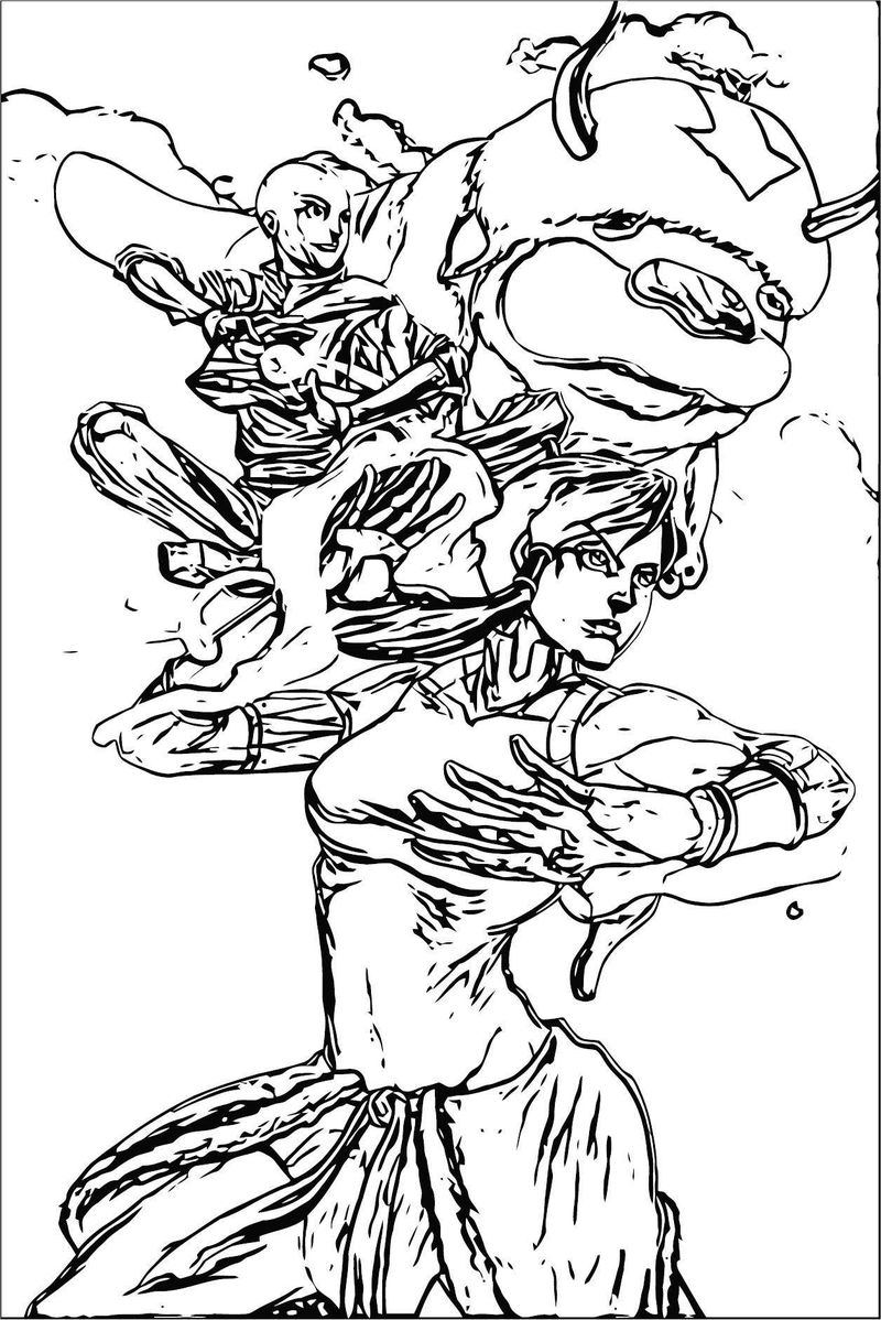 Avata Avatar Aang Coloring Page