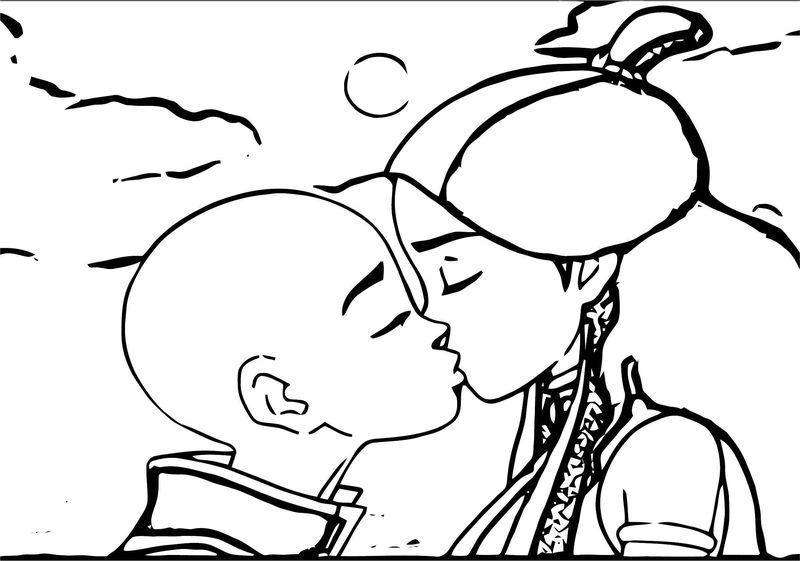 Avatar Aang Coloring Page 2