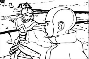 Avatar aang coloring page 3