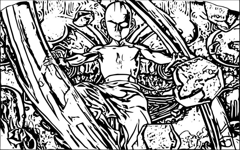 Avatar Aang Coloring Page 4