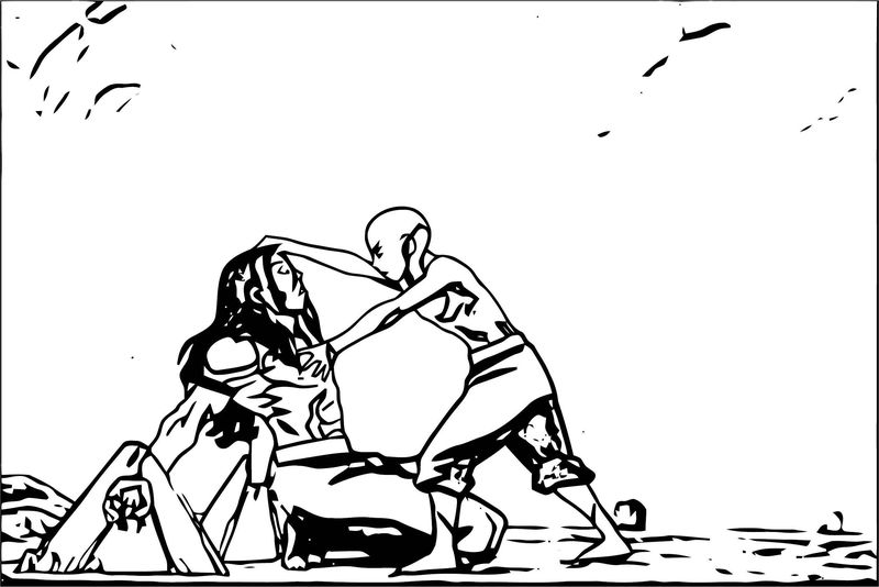 Avatar Aang Coloring Page 5