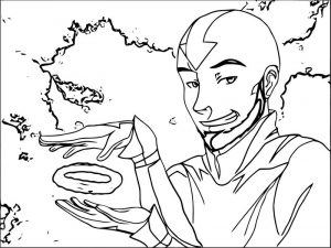 Avatar aang old trick avatar aang coloring page