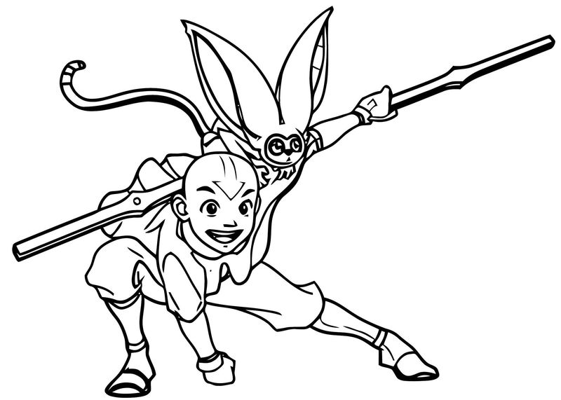 Avatar The Last Airbender Cosplay Aang Cosplay Shoes Version Image Avatar Aang Coloring Page
