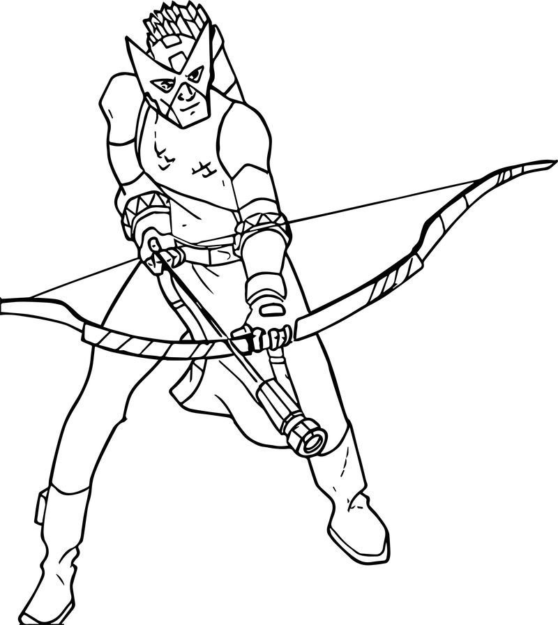 Avengers Arrow Coloring Page 001