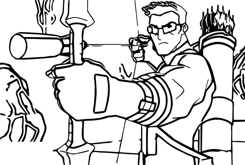 Avengers Arrow Coloring Page