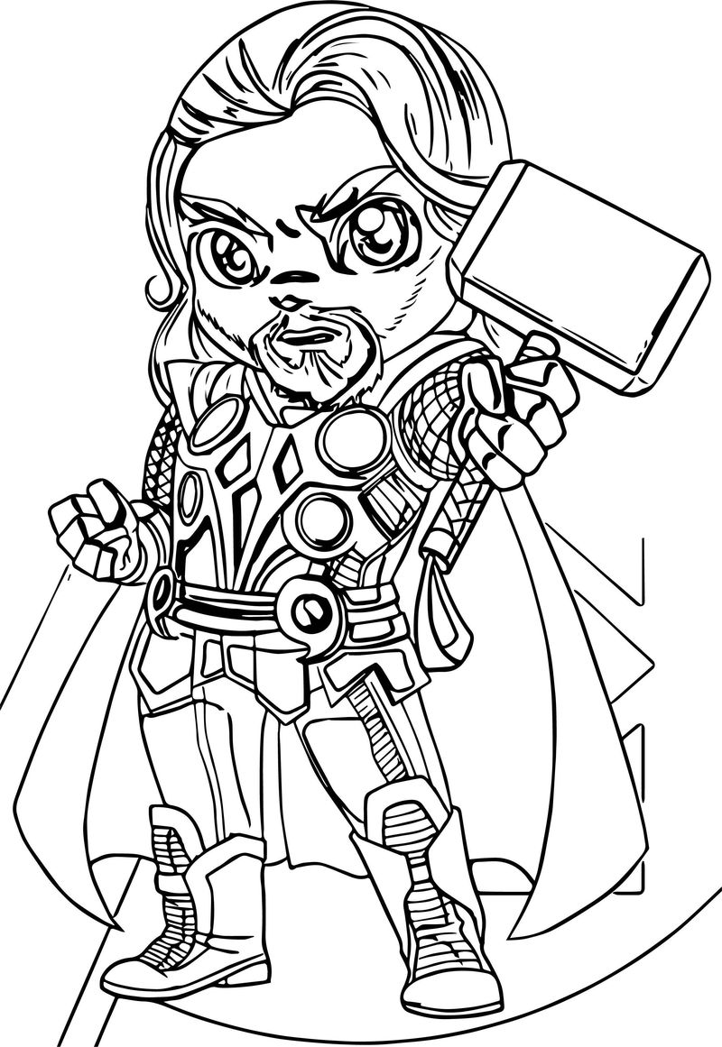 Avengers Coloring Page 18