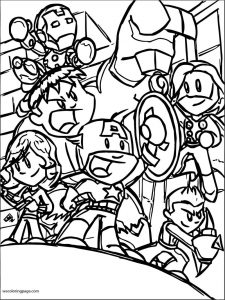 Avengers coloring page 302