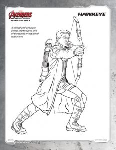 Avengers coloring pages free hawkeye
