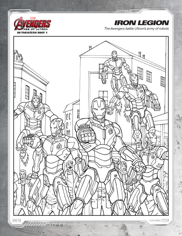 Avengers Coloring Pages Free Iron Legion