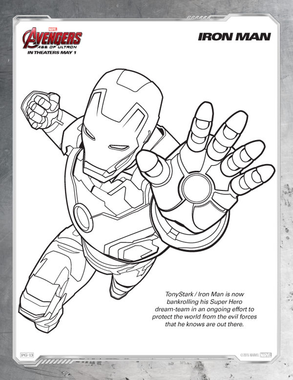 Avengers Coloring Pages Free Iron Man