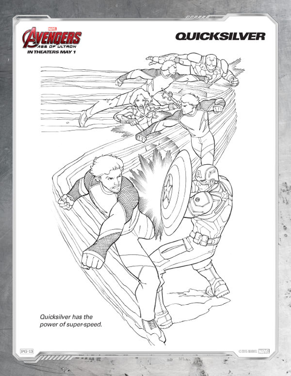 Avengers Coloring Pages Free Quicksilver