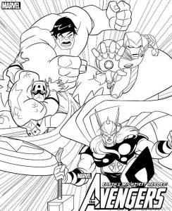 Avengers coloring pages printables