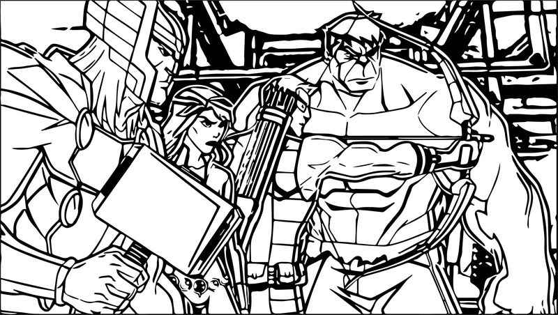 Avengers Picture Coloring Page
