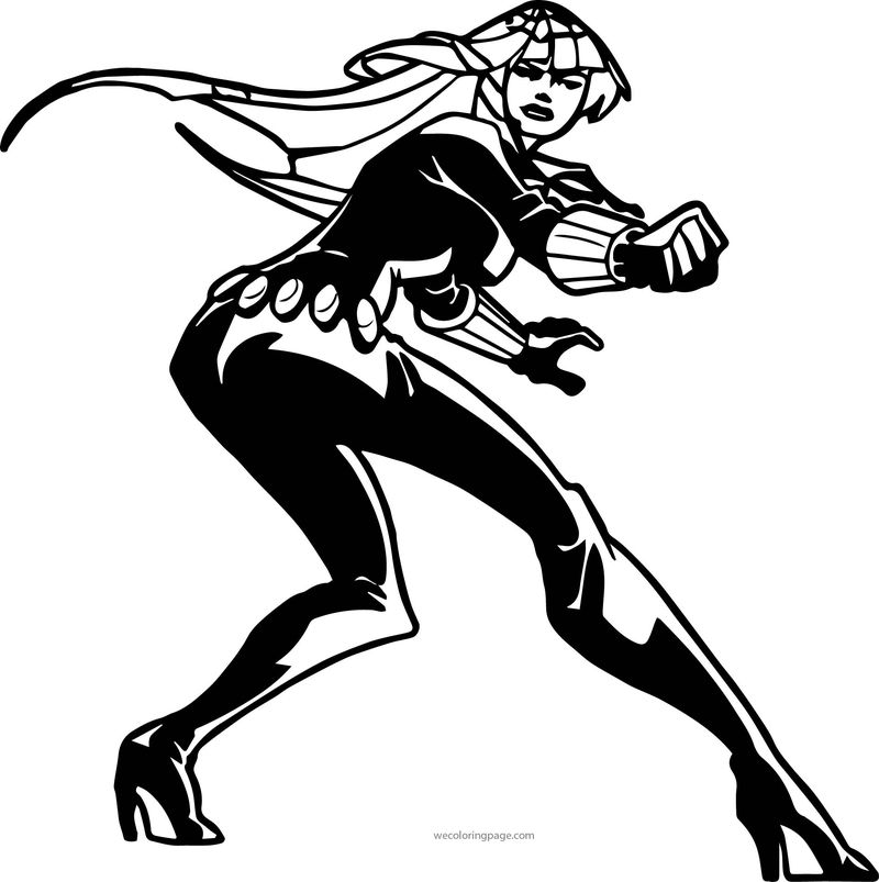 Avengers Woman Coloring Page