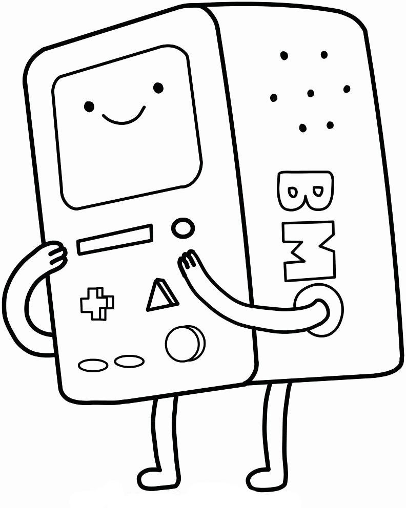 Aventure Time Cartoon Coloring Pages