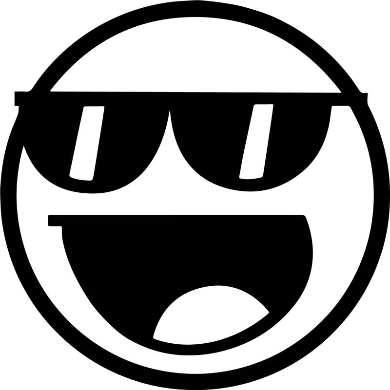 Awesome Face Glasses Coloring Page
