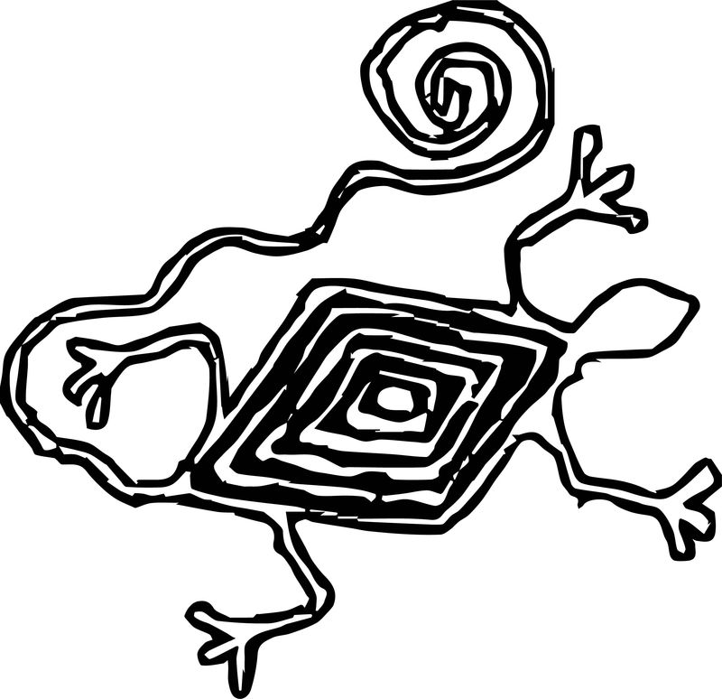 Aztec Snake Shape Coloring Page