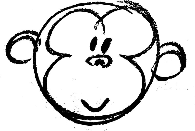 Baboon Sketch Face Coloring Page