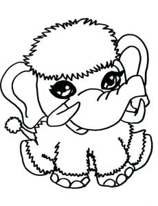 Baby animal coloring page elephant