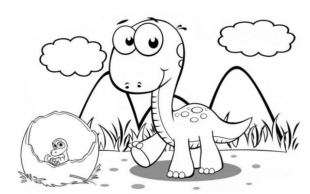 Baby Arlo And Egg The Good Dinosaurs Coloring Pages