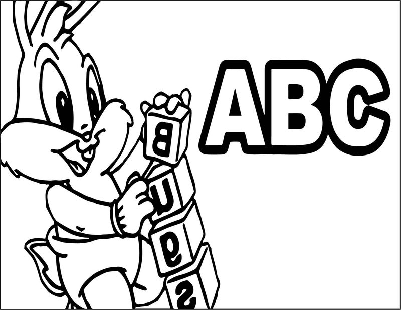 Baby Bugs Bunny Abc Coloring Page
