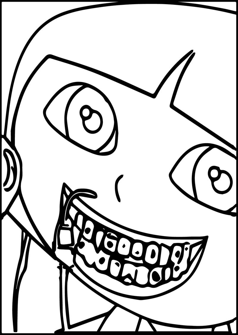Baby Dora Tooth Decoration Coloring Page