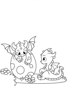 Baby dragon coloring pages cute
