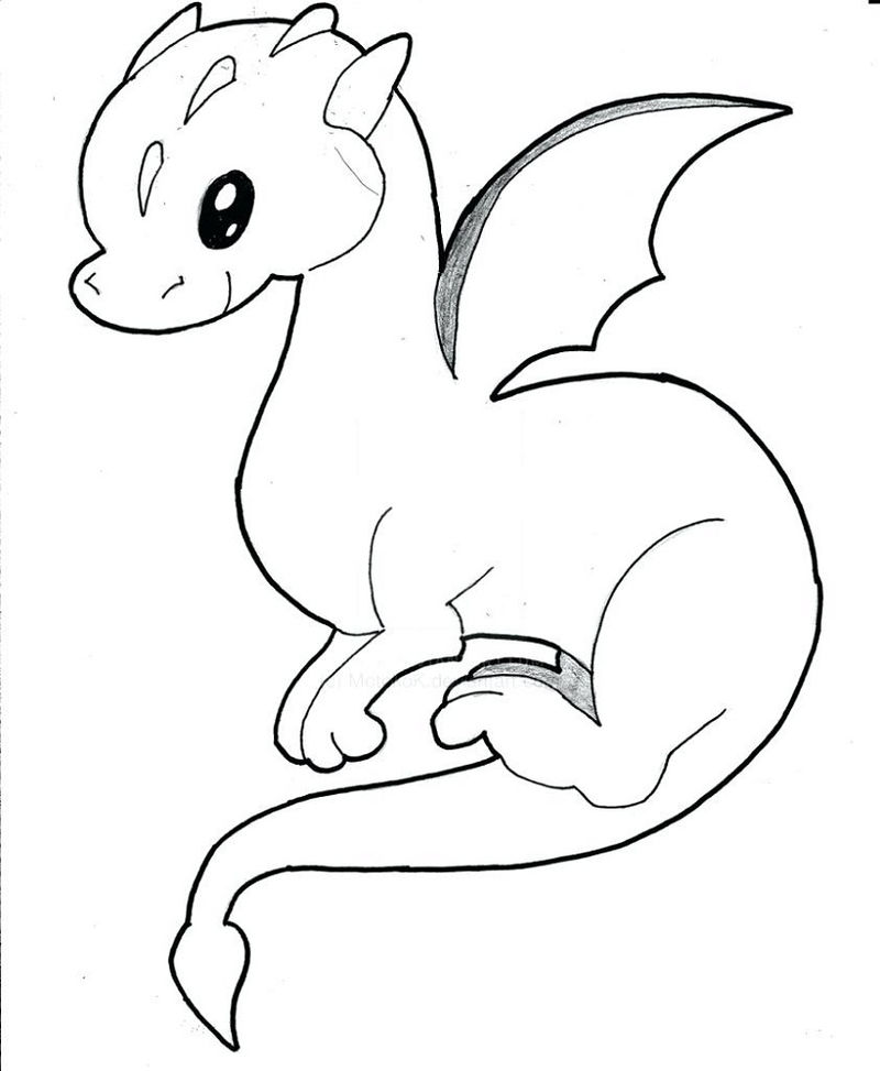 Baby Dragon Coloring Pages Printable