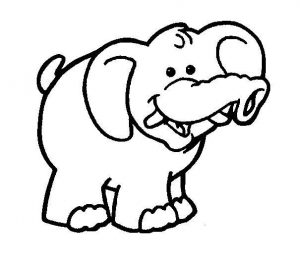 Baby elephant coloring pages for kids