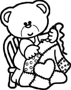 Baby girl bear coloring pages